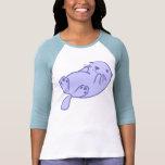 Nutria de mar azul camiseta
