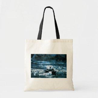 Nutria de mar bolsa tela barata