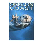 Nutria de mar de la costa de Oregon Impresiones En Lona Estiradas