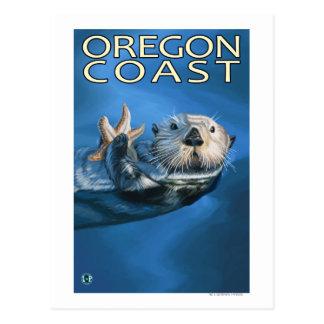 Nutria de mar de la costa de Oregon Tarjetas Postales
