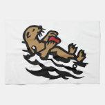 Nutria de mar toallas de cocina