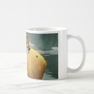 """Nutria de mar y mariposa """"monarca """" taza de café"""