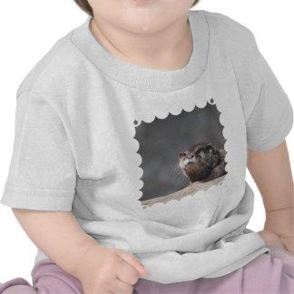 Nutria de río adorable camisetas