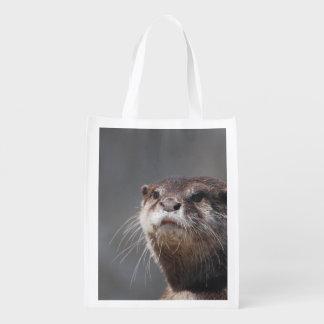 Nutria de río adorable bolsas reutilizables