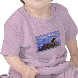 Nutria de río brillante camisetas