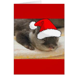 Nutria del navidad tarjeta de felicitación