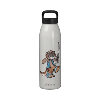 Nutria del pirata botella de agua reutilizable