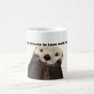 Nutria divertida del día de San Valentín Taza De Café