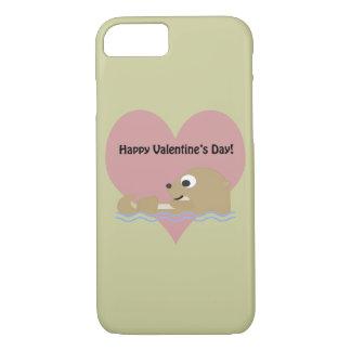 Nutria feliz del día de San Valentín Funda iPhone 7