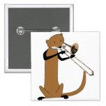 Nutria que juega el Trombone Pin