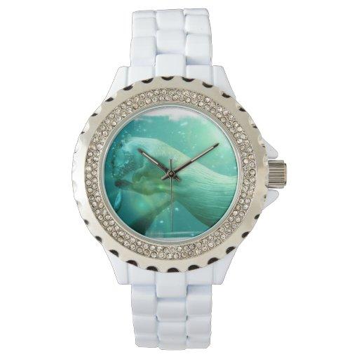 Nutria subacuática relojes de pulsera