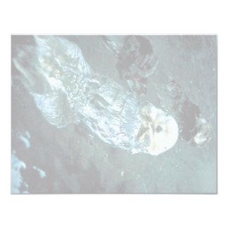 """Nutrias de mar meridionales invitación 4.25"""" x 5.5"""""""