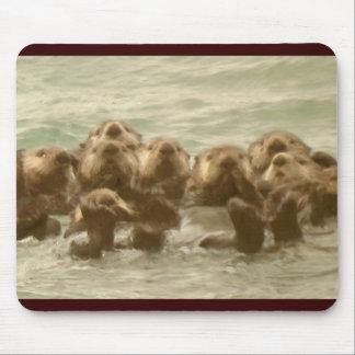 Nutrias de mar tapetes de raton