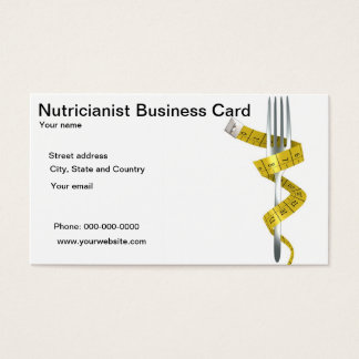 Nutricianist or Nutricionist Business Cards