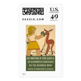 Nutrición de los ciervos del chica WPA 1938 Envio