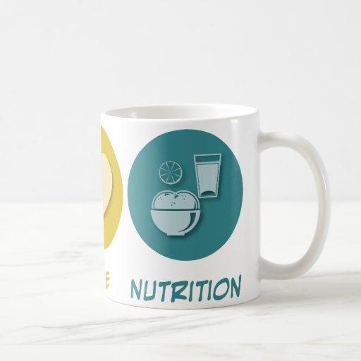 Nutrición del amor de la paz taza de café