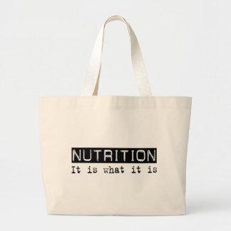 Nutrición es bolsas lienzo