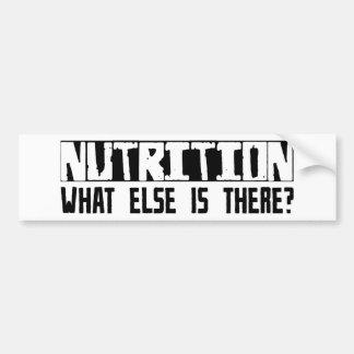 ¿Nutrición qué más está allí? Pegatina Para Auto