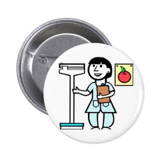 Nutricionista del botón pin redondo de 2 pulgadas