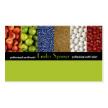 Nutricionista del verde amarillo/tarjeta sana de l plantilla de tarjeta de negocio