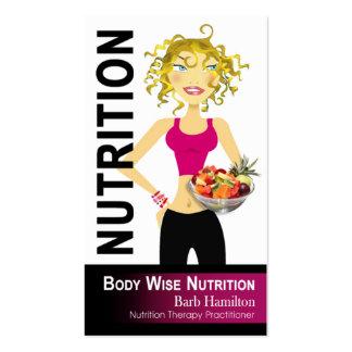 Nutricionista - orden de encargo tarjetas de visita