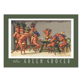 Nutricionista orgánico de la granja de la tienda tarjetas de visita grandes