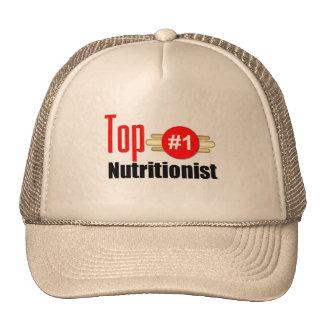 Nutricionista superior gorros