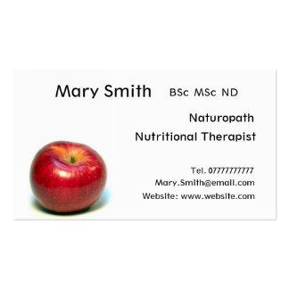 Nutricionista/terapeuta/Naturopath alimenticios Tarjetas De Visita