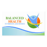 Nutrition and Fitness Coach Business Cards