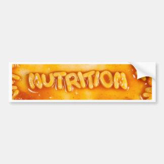 Nutrition Bumper Sticker