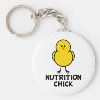 Nutrition Chick Basic Round Button Keychain