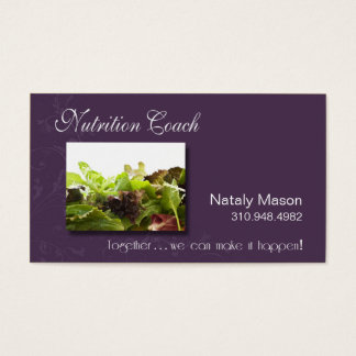 """Nutrition Coach"" Healthy Eating, Weight Loss Business Card"
