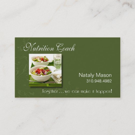 Nutrition coach healthy eating weight loss business card zazzle nutrition coach healthy eating weight loss business card colourmoves
