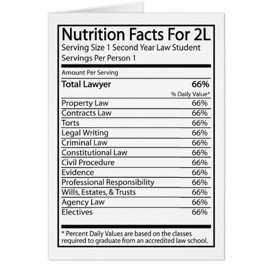 Nutrition Facts For A 2L Card
