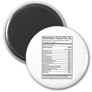 Nutrition Facts For A 2L 2 Inch Round Magnet