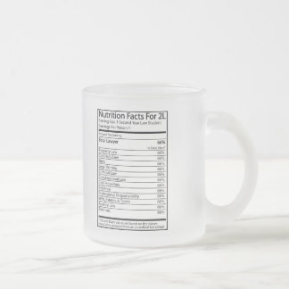 Nutrition Facts For A 2L Mugs