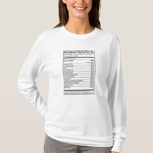 Nutrition Facts For A 2L T-Shirt
