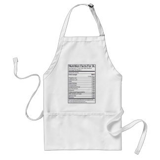 Nutrition Facts For A 3L Adult Apron