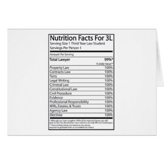 Nutrition Facts For A 3L Greeting Card