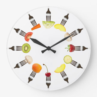 Nutrition Food Fork Cafe Or Restaurant Wall Clock