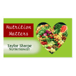 Nutrition Health Foods Business Card