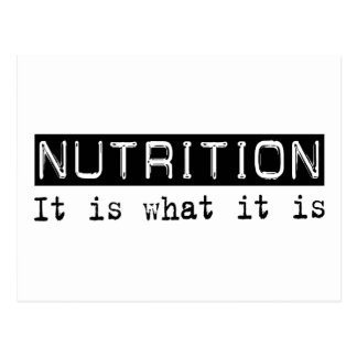 Nutrition It Is Postcard