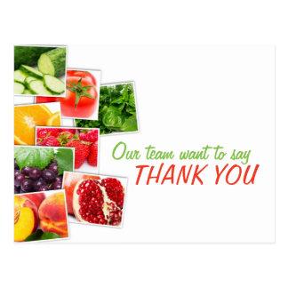 Nutrition Team Thank You Feedback Postcard