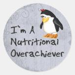 Nutritional Overachiever Round Stickers