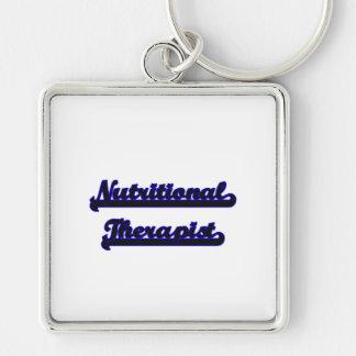 Nutritional Therapist Classic Job Design Silver-Colored Square Keychain