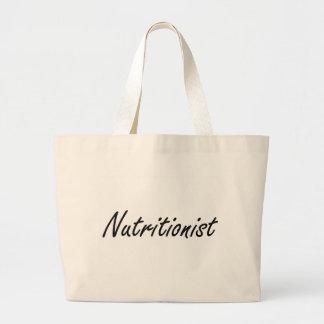 Nutritionist Artistic Job Design Jumbo Tote Bag