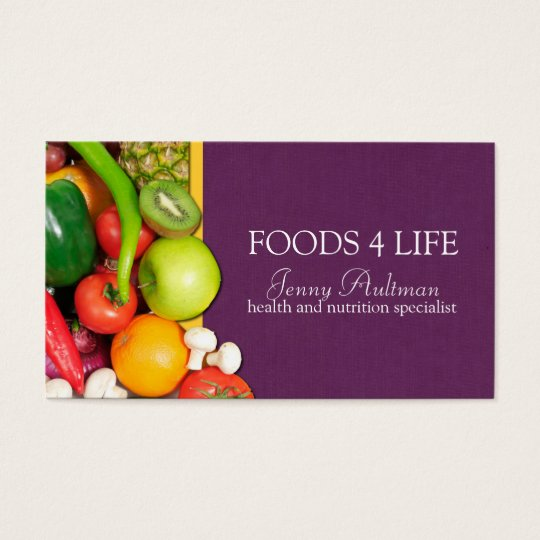 Nutritionist business card zazzle nutritionist business card reheart Image collections