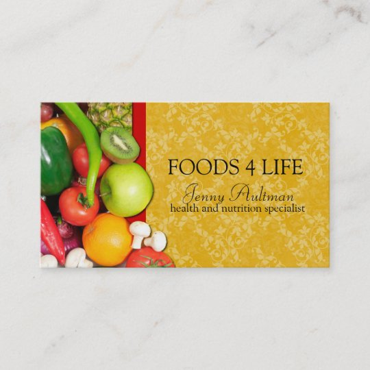 nutritionist business card zazzle com