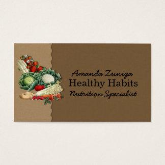 Nutritionist Business Card-Vintage Veggies Business Card