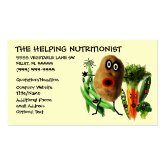 Nutritionist Cartoon Double-Sided Standard Business Cards (Pack Of 100)
